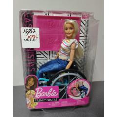 OUTLET - Barbie Fashionistas na wózku inwalidzkim - GGL22
