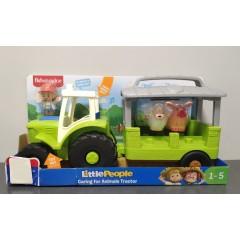 OUTLET – Fisher Price Little People – Traktor ze zwierzątkami – GTM00