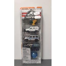 OUTLET – Matchbox Jurassic World – pięciopak pojazdów FMY24