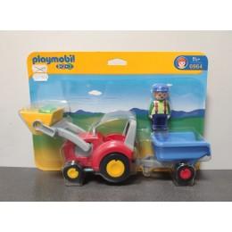 OUTLET – Playmobil 1-2-3 Traktor z przyczepą – 6964