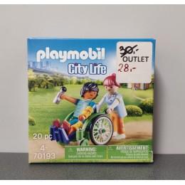 OUTLET – Klocki Playmobil pacjent na wózku inwalidzkim – 70193