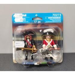 OUTLET – Klocki Playmobil dwupak figurek – Piraci – 70273