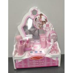 OUTLET – Melissa & Doug – Drewniana toaletka z zabawkowymi kosmetykami – 13026