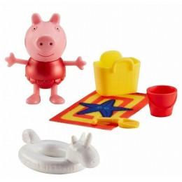 Świnka Peppa – Figurka z akcesoriami – Peppa w czerwonej sukience 06179