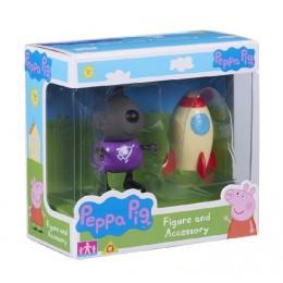 Świnka Peppa 06381 Zestaw figurka + akcesoria - Danny i rakieta