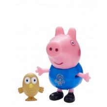 Świnka Peppa - George z sową - Figurki ze zwierzątkami 06918