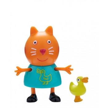 Świnka Peppa - Kotek Candy z kaczką - Figurki ze zwierzątkami 06918