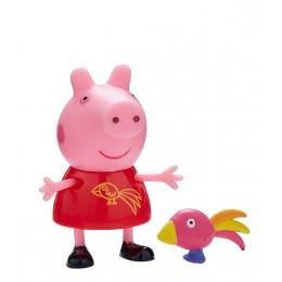 Świnka Peppa - Peppa z papugą - Figurki ze zwierzątkami 06918