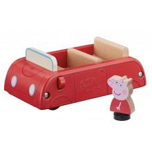 Świnka Peppa – Drewniane auto + figurka Peppy – 07208