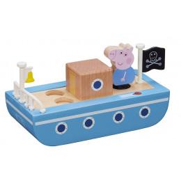Świnka Peppa – Drewniana łódka + figurka Geroge'a – 07209