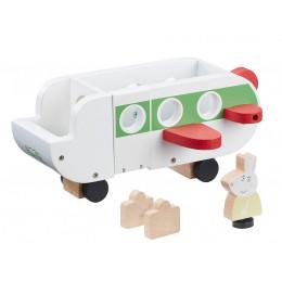 Świnka Peppa – Drewniany samolot + figurka Pani Królik– 07211