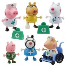 Świnka Peppa – Zestaw 6 figurek – Lekarze i pielęgniarki 07360