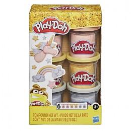 Ciastolina Play-Doh – Tuby uzupełniające – kolory metaliczne – E9433