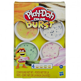 Ciastolina Play-Doh - Color Burst 4 tubki - E6966 E8061