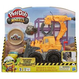Ciastolina Play-Doh Wheels - Koparko-ładowarka + piasek kinetyczny – E9226