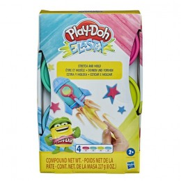 Ciastolina Play-Doh Elastix – Rozciągliwa ciastolina – 4 kolory – E6967 E9864