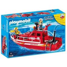 Playmobil 3128 Klocki City Action Łódź strażacka z armatką wodną