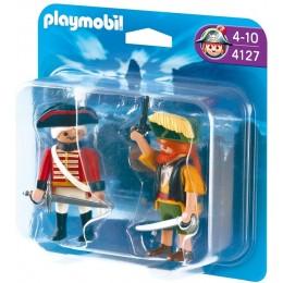 Playmobil 4127 Duo Pack Pirat i żołnierz czerwonych kurtek