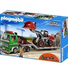 Playmobil 5026 City Action - Przyczepa niskopodwoziowa ze spychaczem