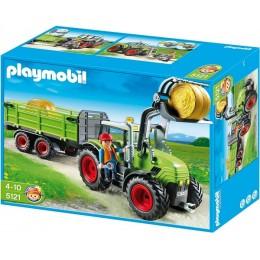 Playmobil Klocki 5121 Wielki Zielony Traktor z Przyczepą