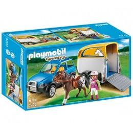 Playmobil Klocki Country 5223 Samochód z Przyczepą dla Konia