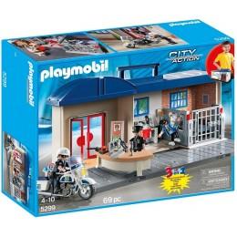 Playmobil 5299 Klocki City Action Przenośny Komisariat Policji