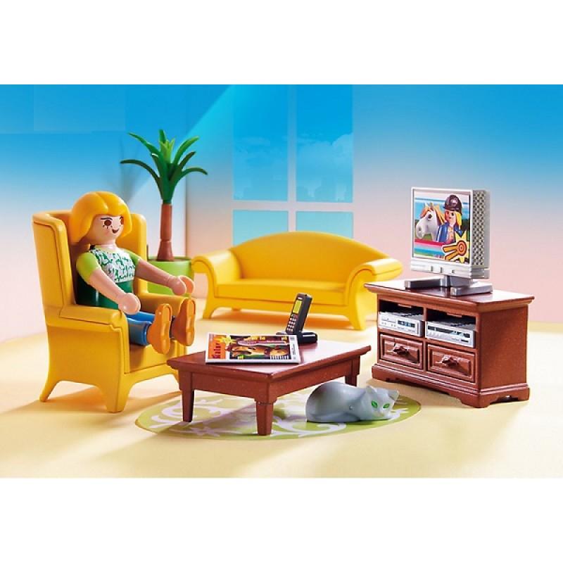 Playmobil 5308 salon z kominkiem sklep zabawkowy for Salon playmobil