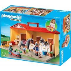 Playmobil Klocki Country 5348 Przenośna Stajnia