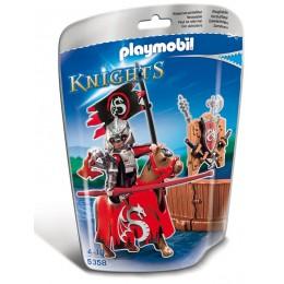 Playmobil Klocki Knights 5358 Rycerz Turniejowy Klanu Smoków