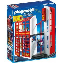 Playmobil Klocki City Action 5361 Kwatera Straży Pożarnej z Alarmem