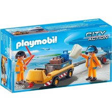 Playmobil 5396 City Action - Holownik samolotów z kontrolerem ruchu