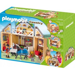 Playmobil Klocki Country 5418 Stadnina Koni - Game Box