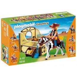 Playmobil Klocki Country 5516 Koń Tinker z Boksem