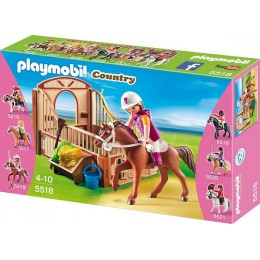 Playmobil Klocki Country 5518 Koń Shagya z Boksem