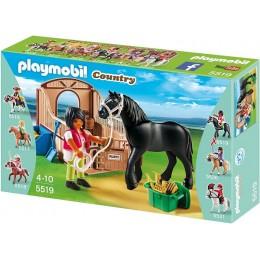 Playmobil Klocki Country 5519 Koń Fryzyjski z Boksem