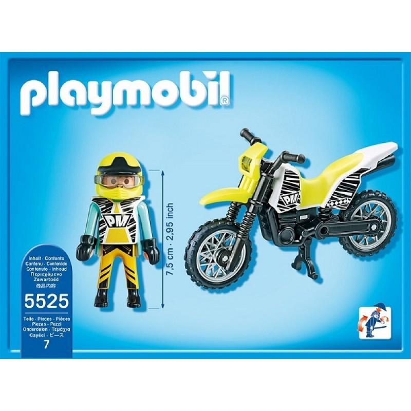 Playmobil klocki sports action 5525 motor cross bike sklep zabawkowy - Moto cross playmobil ...