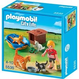 Playmobil Klocki City Life 5535 Rodzina Kotów z Koszykiem