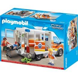 Playmobil 5541 Klocki City Action Karetka Pogotowia ze Światłem i Dźwiękiem