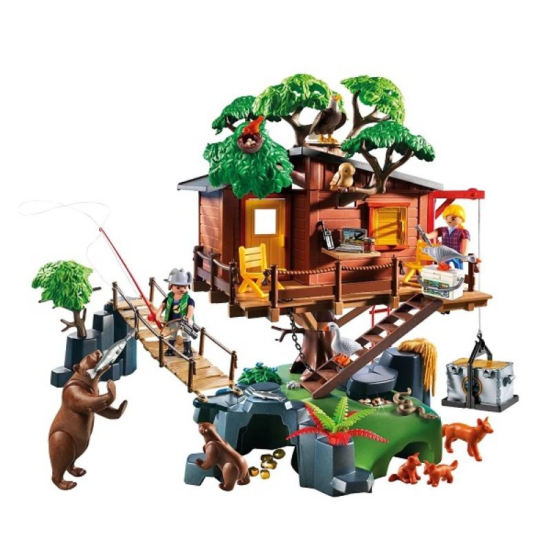 Playmobil wild life 5557 przygoda z domkiem na drzewie sklep zabawkowy - Casa del arbol de aventuras playmobil ...