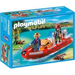 Playmobil Wild Life 5559 Ponton z kłusownikami