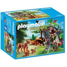 Playmobil Wild Life 5561 Rodzina rysiów z kamerzystą