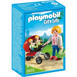 Playmobil Klocki City Life 5573 Wózek z Bliźniakami