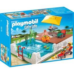 Playmobil Klocki City Life 5575 - Taras z Basenem