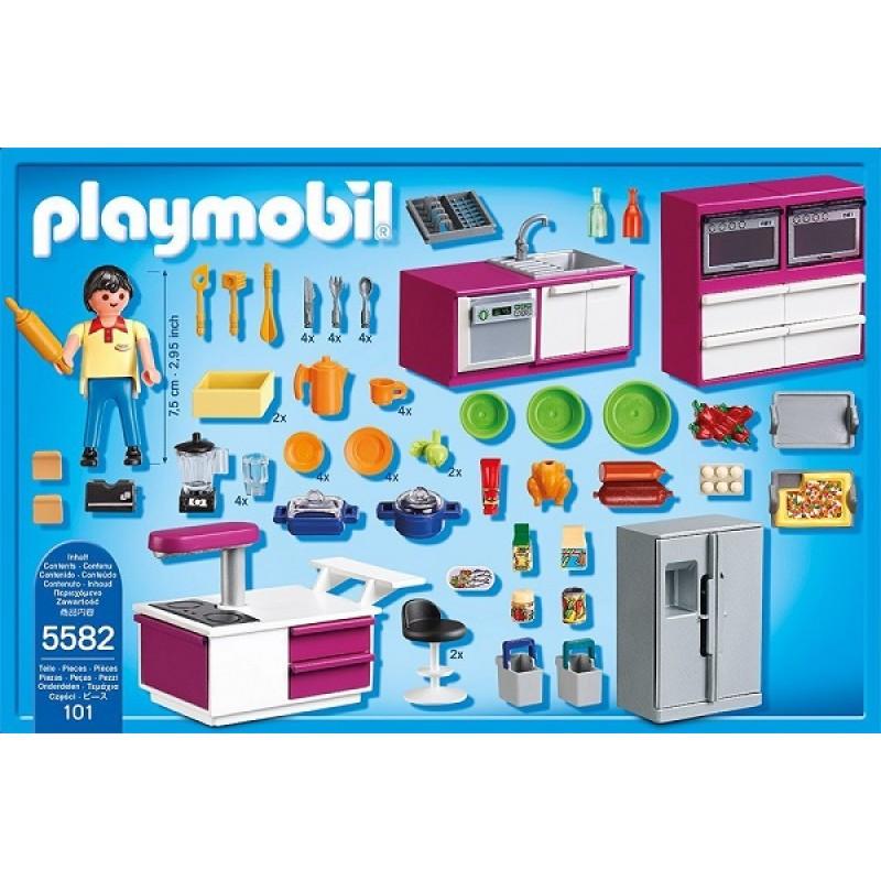 playmobil klocki city life 5582 nowoczesna kuchnia sklep zabawkowy. Black Bedroom Furniture Sets. Home Design Ideas