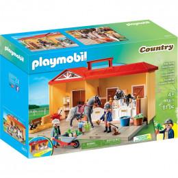 Klocki Playmobil 5671 Country - Nowa przenośna stajnia