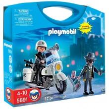 Playmobil 5891 Klocki Przenośna Walizka Policja - Ujęcie Złodzieja