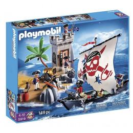 Playmobil 5919 Piraci - Forteca żołnierzy i statek piracki