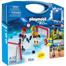 Playmobil 5993 Przenośna walizka 3w1 Hokej na lodzie, Baseball i Football