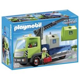 Playmobil 6109 Klocki City Action Śmieciarka na szkło z kontenerami