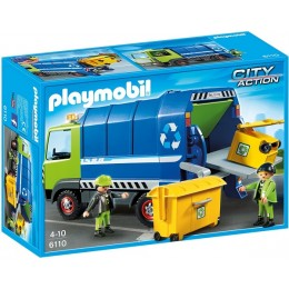 Playmobil 6110 City Action Nowa śmieciarka do recyklingu
